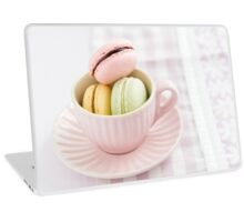 Macarons in a cup Laptop Skin