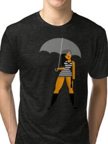 Umbrella girl Tri-blend T-Shirt