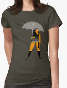 Umbrella girl Womens Fitted T-Shirt