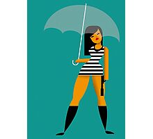 Umbrella girl Photographic Print