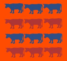 RED WHITE AND BLUE COWS Kids Tee