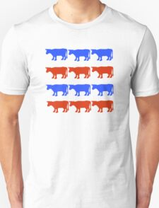 RED WHITE AND BLUE COWS T-Shirt