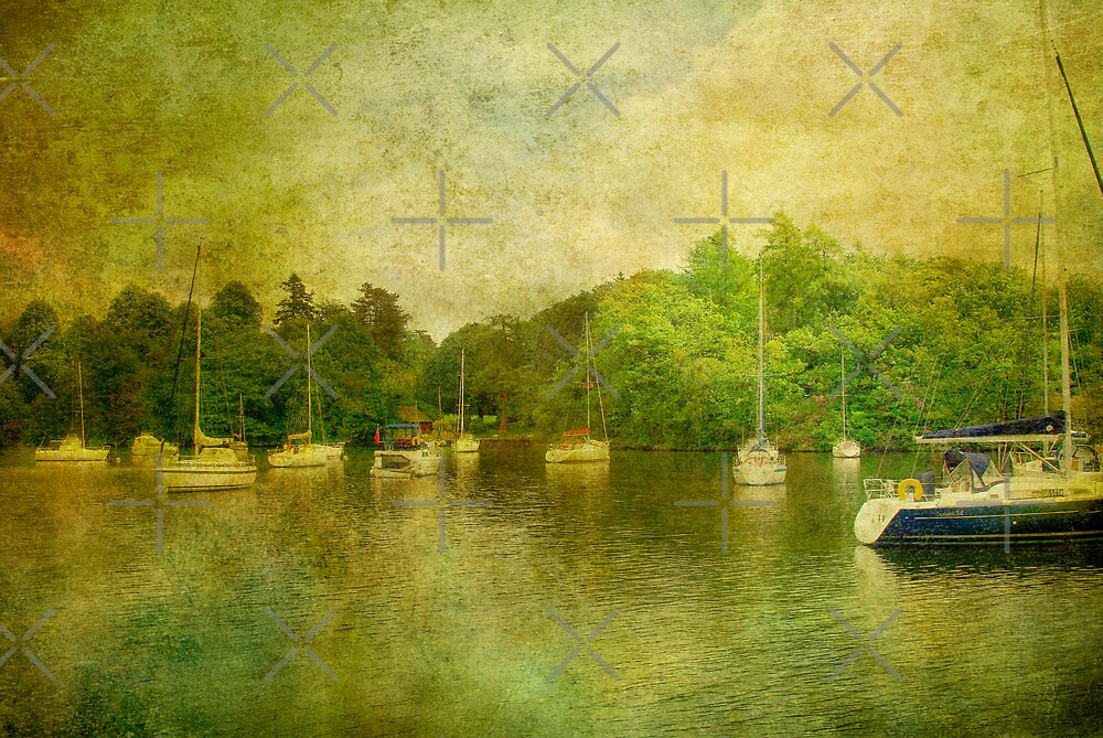 Boats on Windermere by Catherine Hamilton-Veal  ©