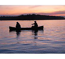sunset canoe Photographic Print