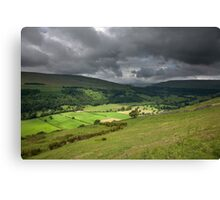 Looking Across Buckden To Langstrothdale Canvas Print