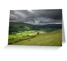 Looking Across Buckden To Langstrothdale Greeting Card