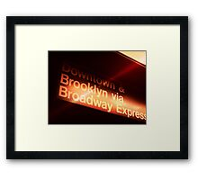 VIA Subway ~~ Framed Print