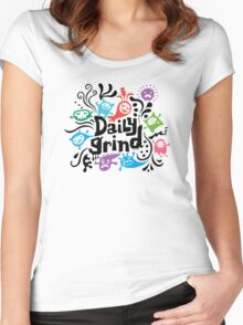 Daily grind - colors Women's Fitted Scoop T-Shirt