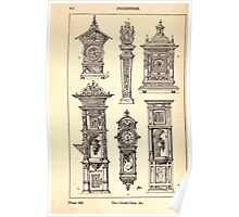 A Handbook Of Ornament With Three Hundred Plates Franz Sales Meyer 1896 0472 Furniture Clock Case Poster