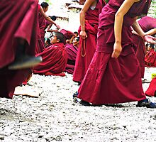 Sera Monastery and the debating monks by Annaleah