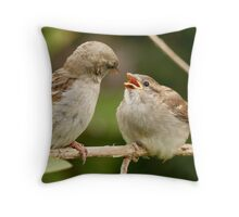 Feed Me, Mommy, Feed Me! Throw Pillow