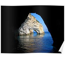Under an Arch - Framing the Blue Caves, Zante Poster