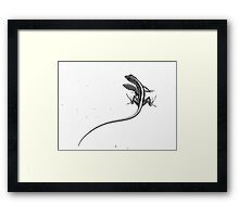 Make sure you get my tail Framed Print