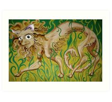 Shy Feline Art Print