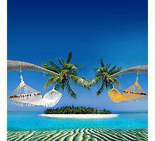 Beach hammocks  Photographic Print