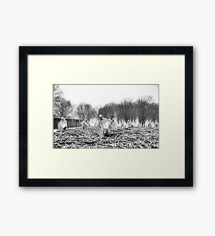 Korean War Memorial | Washington DC | Snow Framed Print