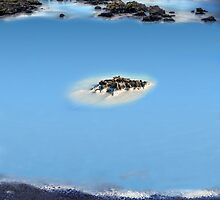 Blue Lagoon in Island by Digital Editor .