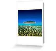 Exotic Private Island  Greeting Card