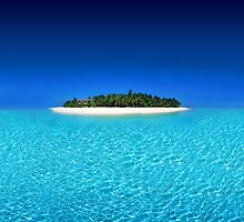 Exotic Private Island  by Digital Editor .