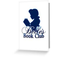belle's book club Greeting Card