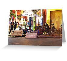 Siem Reap at night Greeting Card