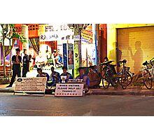 Siem Reap at night Photographic Print