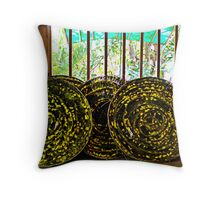 Silk factory, Siem Reap Throw Pillow