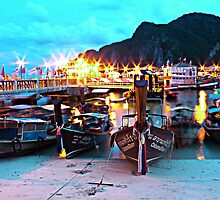 Ko Phi Phi, Thailand at dusk by Annaleah