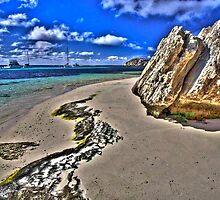 Rock Beach HDR by Heather Linfoot