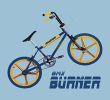 Retro BMX Burner T-shirt by ImageMonkey