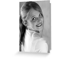 Smile with your eyes.............. Greeting Card