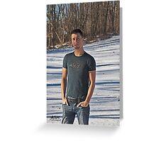 Snow Shadows Greeting Card