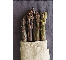 Purple asparagus Photographic Print