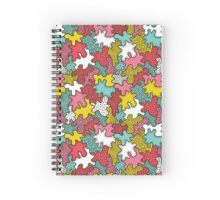 Crazy tangle doodle splash pattern Spiral Notebook