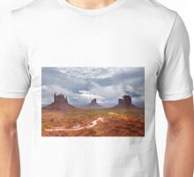 Storm clouds clear over Monument Valley Unisex T-Shirt