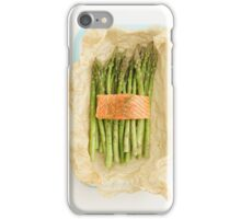 Green asparagus with salmon iPhone Case/Skin