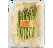 Green asparagus with salmon iPad Case/Skin
