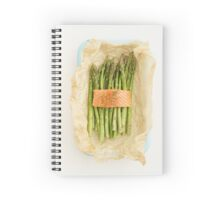 Green asparagus with salmon Spiral Notebook