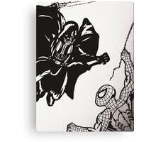 Spiderman vs. Darth Vader Canvas Print