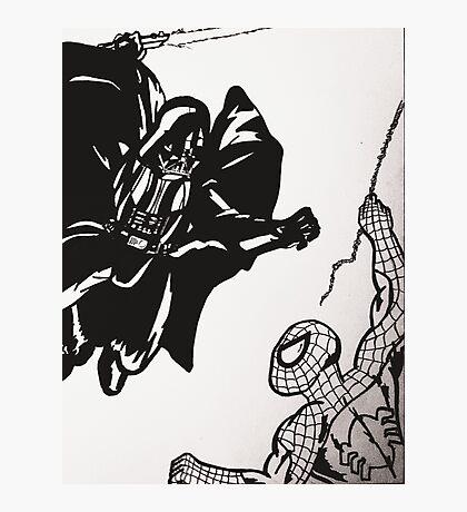 Spiderman vs. Darth Vader Photographic Print