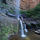 Twin Falls at Wentworth Falls by Malcolm Katon