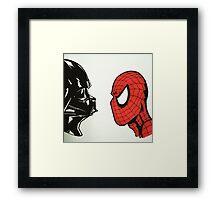 Spiderman vs. Darth Vader 2 Framed Print