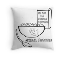 Cereal Biscuits Throw Pillow