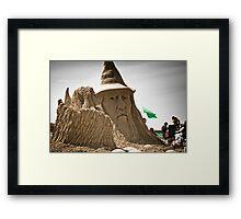 Sand Castle Wizard Framed Print
