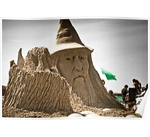 Sand Castle Wizard Poster