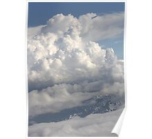Covered mountain top Poster