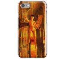 Winged Goddess in the Temple by Sarah Kirk iPhone Case/Skin