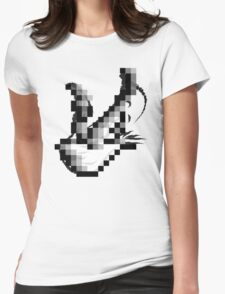Raster Dove Womens Fitted T-Shirt