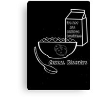Cereal Biscuits Inverted Canvas Print