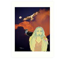 Nature girl Hawks Moon Art Print